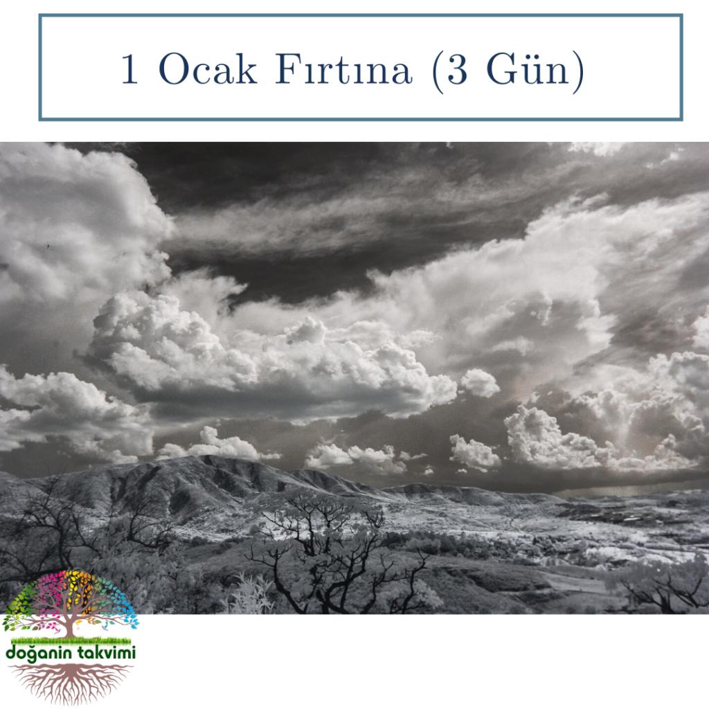 1 Ocak  - Kar Fırtınası (3 gün) - Doğanın Takvimi
