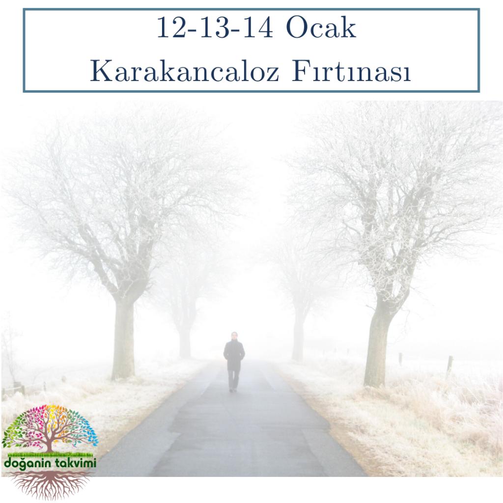 12-13-14 Ocak - Karakoncoloz (Karakoncolos) Fırtınası - Doğanın Takvimi