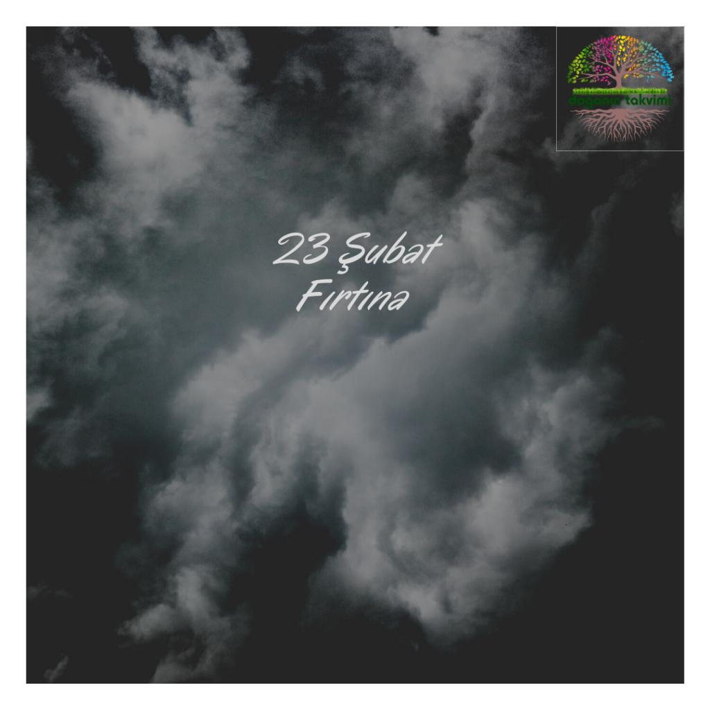 23 Şubat - Fırtına - Doğanın Takvimi