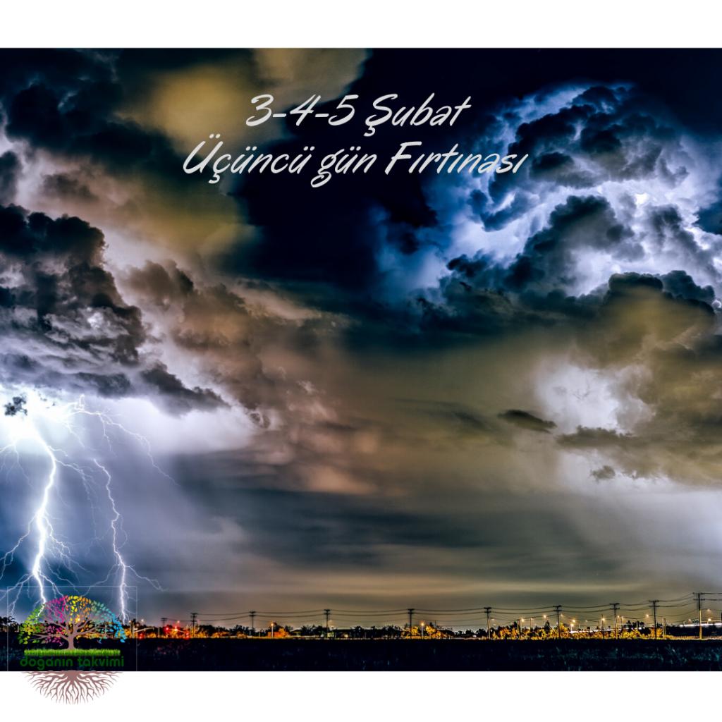 3-4-5 Şubat – Üçüncü Gün Fırtına - Doğanın Takvimi