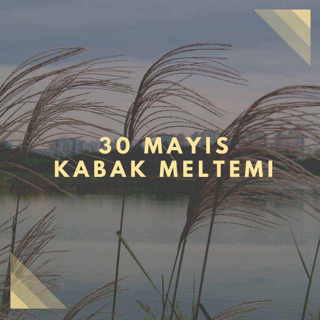 30 Mayıs – Kabak Meltemi - Doğanın Takvimi