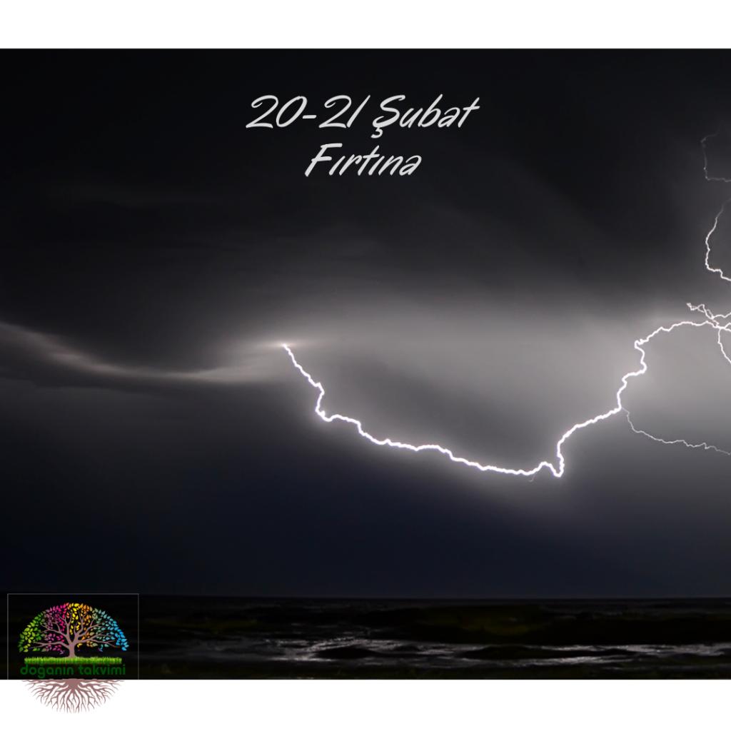 20 - 21 Şubat - Fırtına - Doğanın Takvimi
